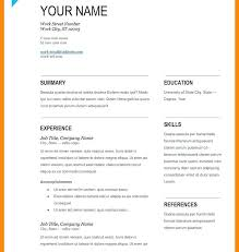Resume Format Word Magnificent Best Resume Format In Word File Best Resume Format Word File