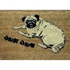 pug rug good doormats pug rug pug doormat