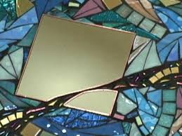 contemporary glass mosaic mirror