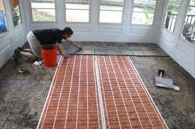 option for sun porch flooring ideas screened in porch flooring over concrete