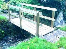 small garden bridge satisfying arched plans building a bri