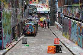 >melbourne s famous street art lane covered in blue paint in the name   if he s supposed to be supporting street art why did he do it you ask according to doyle s facebook page it was all in the name of art