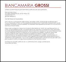 Lettera Di Presentazione Lettera Di Presentazione Per Laboratorio Analisi Chiamaroma