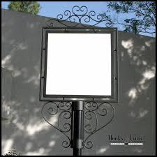 Decorative Metal Yard Signs Decorative SlipOver Sign Holder System 100 x 100 Signage 12