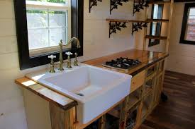 tiny houses austin. Kitchen Area Features Open Faced Cabinets - Fort Austin By Brevard Tiny House Houses