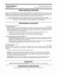 Food Service Manager Resume Template Best of Food Service Manager Resume Template Lovely Customer Service Manager