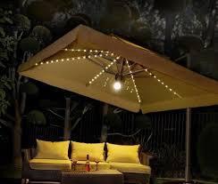 patio umbrellas with lights.  Umbrellas 1010 Side Post Umbrella With Lights On Patio Umbrellas With T