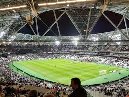 London Stadium, section 244, row 56, seat 198, home of West Ham United