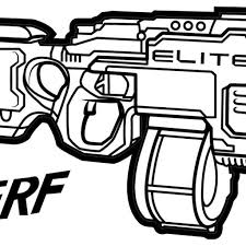 Nerf Gun Coloring Pages With Rival Nerf Gun Coloring Pages Machine