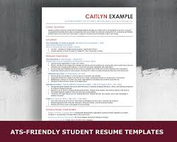 Ats Friendly Student Resume Template 5