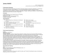Resume Examples For Pharmacists Examples Of Resumes