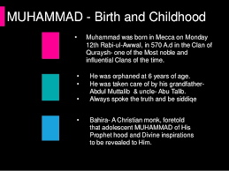 life of holy prophet pbuh muhammad