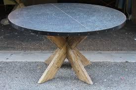 zinc top round dining table elegant zinc top round dining table gray interior plan hafoti