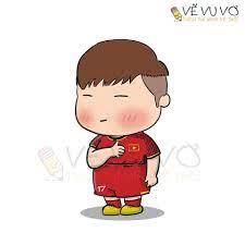 Những hình vẽ chibi siêu đáng yêu của các cầu thủ bóng đá Việt Nam