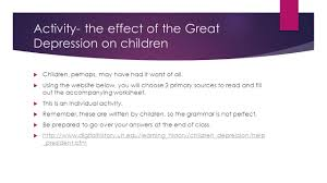 of the great depression essays effects of the great depression essays