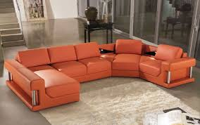 Orange Living Room Set Orange Leather Sofa And Loveseat Sofa Ideas