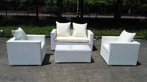 Caribbean White Wicker Outdoor PE Rattan Wicker Patio Furniture