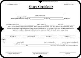 Template For Stock Certificate 11 Stock Certificate Templates Free Printable Word Pdf