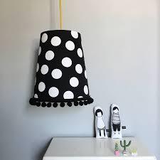 black polka dot lamp shade design ideas