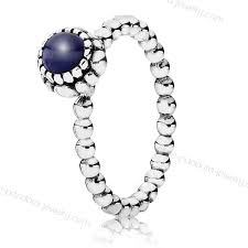 pandora september lapis birthstone ring with s