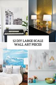 Diy Wall Art 12 Eye Catchy Diy Large Scale Wall Art Pieces Shelterness
