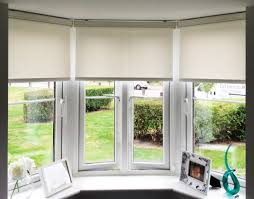 6 Motorized Roller Blinds Install In A Bay Window With Sidetrack Roller Blinds Bay Window
