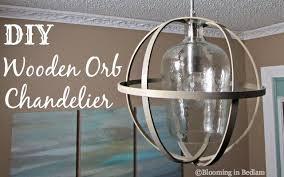 wood orb chandelier65