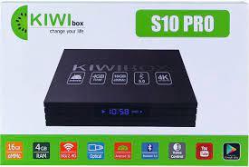 Android TV Box Kiwi S10 Pro có Điều khiển Giọng nói , Ram 4GB /Rom 16GB,  Android 10, Cấu hình Cực mạnh - Hàng Chính Hãng