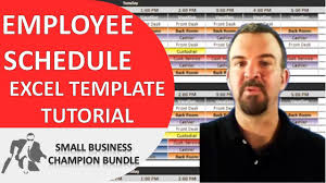 scheduling templates for employee scheduling employee schedule template excel shift planner youtube