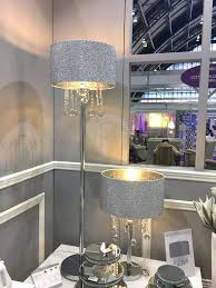sparkly floor lamp crystal floor lamp sparkly silver mirror crushed crystal effect glass droplets glitter floor
