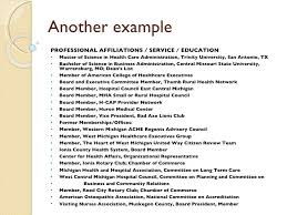 Affiliations On Resume Example #5456