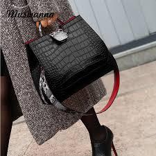 Snakeskin Designer Bags Luxury Crocodile Women Handbag Snakeskin Wide Shoulder Strap
