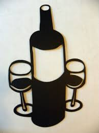 wine bottle and 2 glasses large 18 quot metal wall art home decor on large wine bottle wall art with amazon wine bottle and 2 glasses large 18 metal wall art home