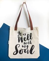 soul tote bag black with leather handles
