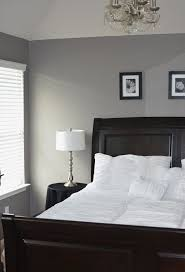Master Bedroom Gray Grey Master Bedroom Behr Creek Bend Grey White Chandelier