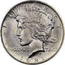 1921 Peace High Relief 1 Ms Peace Dollars Ngc