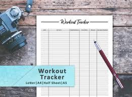 Workout Log Sheets Classy Workout Log Workout Tracker Workout Log Journal Workout Log Etsy