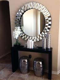 Round Mirrors Decorative Wall Mirrors Glamorous Hallway With Coffe Coloured  Walls And Large Round Silver Mirror Small Round Decorative Wall Mirrors  Round ...
