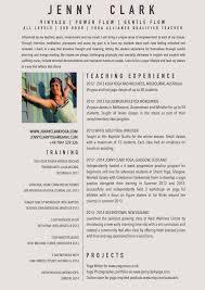 Resume Yoga Teacher Resume