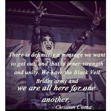 Christian Coma Quotes Best Of CHRISTIAN COMA Quotes Pinterest Black Veil Brides And Black Veil