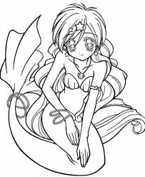 Mermaid Coloring Pages For Teens Girl Coloringstar