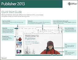 Ms Publisher Lesson Plans Publisher 2013 Quick Start Guide Publisher