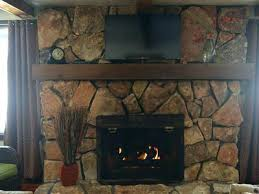 gas starter fireplace gas starter fireplace stone fireplace with wood burning fireplace