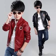 details about new fashion kids boy motorcycle leather jacket biker coat children s overcoat
