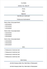 Free Blank Resume Template Free Blank Resumes To Print Simple Resume ...