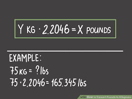 Conversion Chart Pounds To Kilos How To Convert Pounds To Kilograms 6 Steps With Pictures