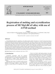 (PDF) Registration of melting and crystallization process of ...