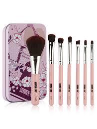 professional 7pcs extra soft fiber hair travel makeup brush set multicolor a