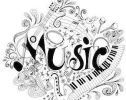 Large music note coloring pages. Music Coloring Page Etsy
