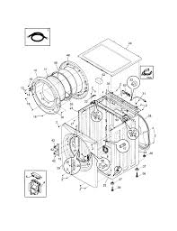 Frigidaire model fafs4474la0 residential washers genuine parts rh searspartsdirect transmission fill and drain 3800 series